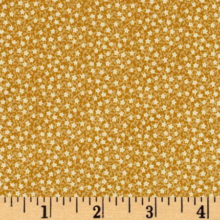 Peace On Earth Daisy Gold Fabric By The Yard