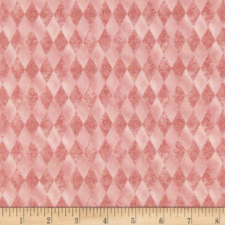 Peace on Earth Diamond Pink Fabric