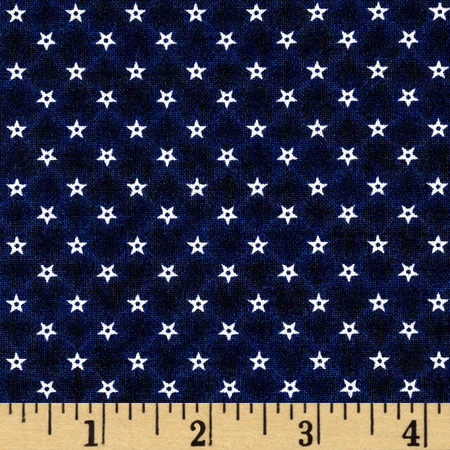 Penny Rose Americana ll Mini Stars Navy Fabric By The Yard