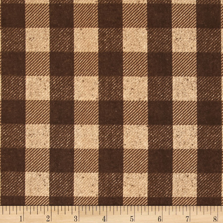 Penny Rose Menswear Check Brown Fabric
