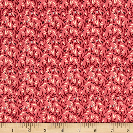 Penny Rose Victoria Fern Pink Fabric