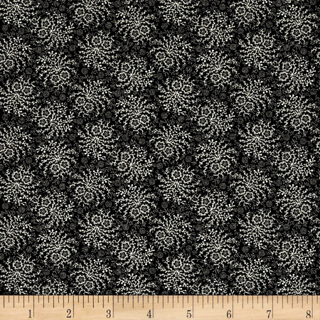 Peppery Spray Black Fabric By The Yard