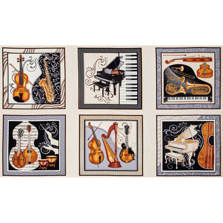 Perfect Pitch 24'' Music Panel Cream Fabric