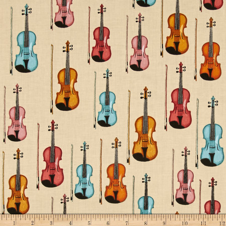 Perfect Pitch Violins Cream Fabric