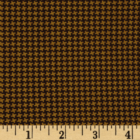 Pet Rescue Houndstooth Brown Fabric