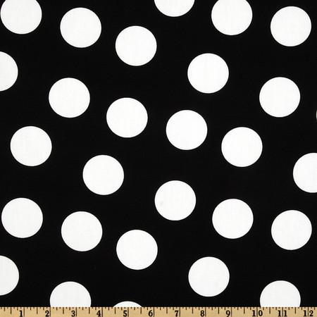 Pimatex Basics Jumbo Dot Black/White Fabric