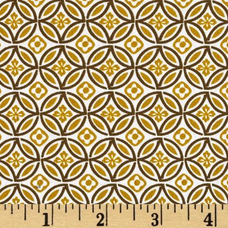 Pimatex Mini Print Medallion White Fabric