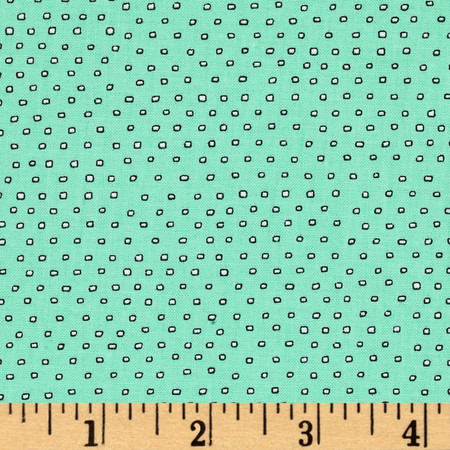 Pixie Square Dot  Seafoam Fabric By The Yard