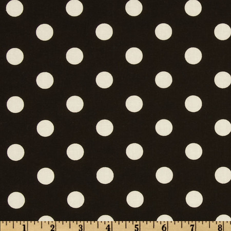 Polka Dots Black/White Fabric By The Yard