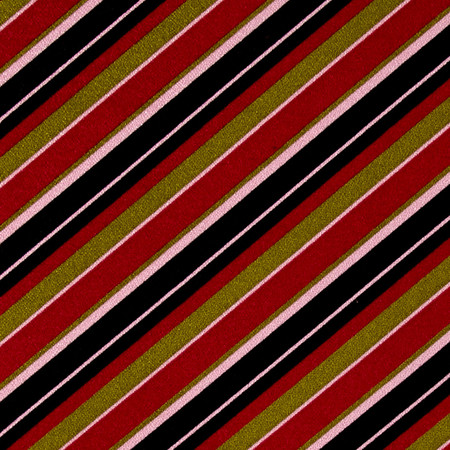 Poly Cotton Spandex Stripe Pink/Black/Green Fabric By The Yard