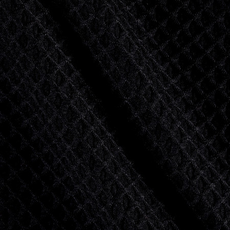 Polyester Spandex Latice Knit Pique Black Fabric By The Yard