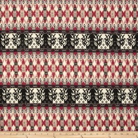 Ponte de Roma Aztec Black/White/Fuchsia Fabric