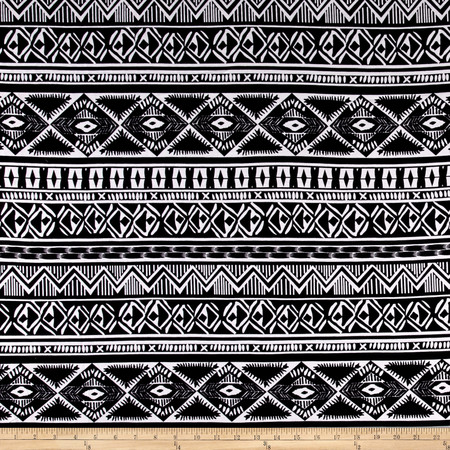 Ponte de Roma Aztec Black Fabric By The Yard