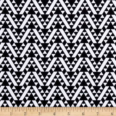 Ponte de Roma Aztec Chevron Black Fabric By The Yard