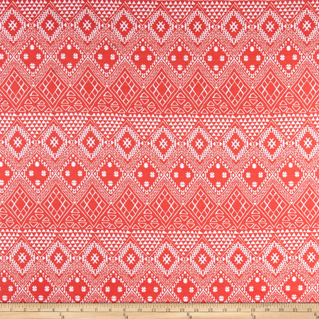 Ponte de Roma Aztec Coral Fabric By The Yard