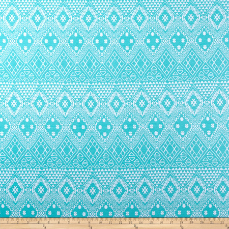 Ponte de Roma Aztec Mint Fabric By The Yard