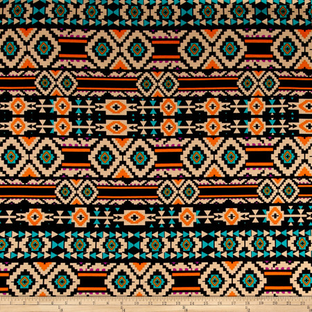 Ponte de Roma Aztec Orange Fabric By The Yard