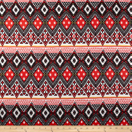 Ponte de Roma Aztec Red Fabric By The Yard