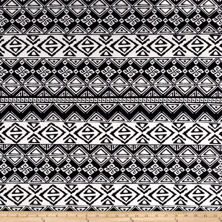 Ponte de Roma Aztec White Fabric By The Yard