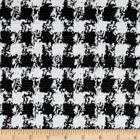 Ponte de Roma Check Black/Ivory Fabric By The Yard