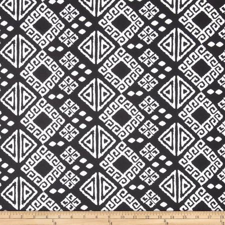 Ponte de Roma Geo Diamonds Black/White Fabric