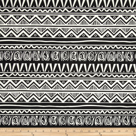 Ponte de Roma Lattice Black/White Fabric By The Yard