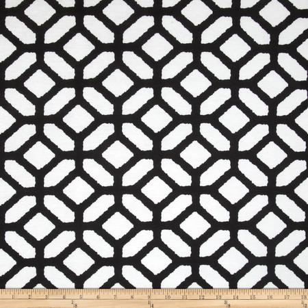 Ponte de Roma Lattice Geo Black/White Fabric