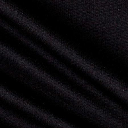 Ponte de Roma Solid Black Fabric By The Yard