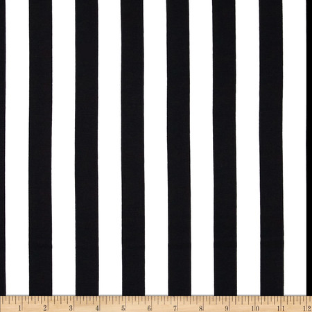 Ponte de Roma Stripe Black/White Fabric