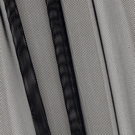 Power Mesh Solid Black Fabric By The Yard