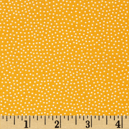 Prairie Yard Goods Pin Dots Yellow Fabric
