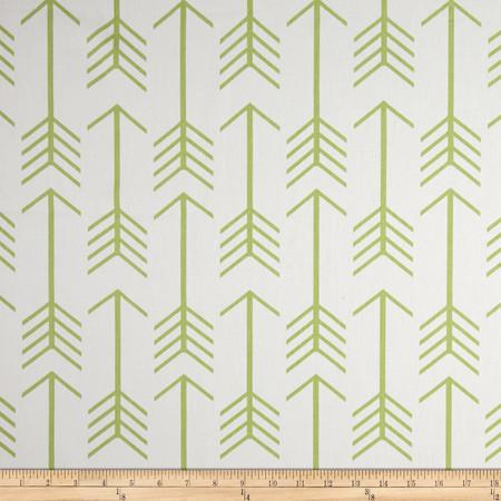 Premier Prints Arrows Twill White/Kiwi Fabric By The Yard