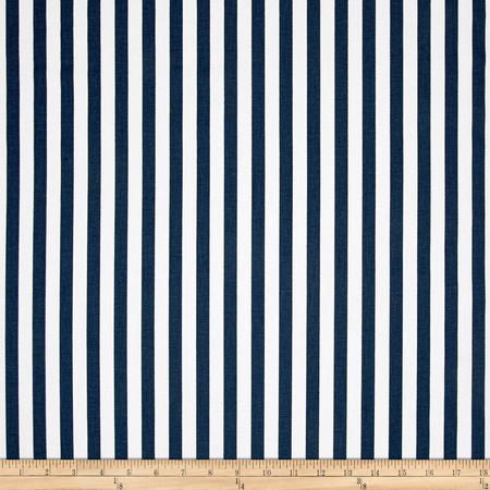 Premier Prints Basic Stripe Premier Navy Fabric By The Yard