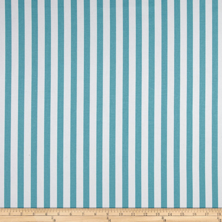 Premier Prints Basic Stripe  Coastal Blue Fabric By The Yard