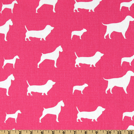 Premier Prints Best Friends Candy Pink/White Fabric By The Yard