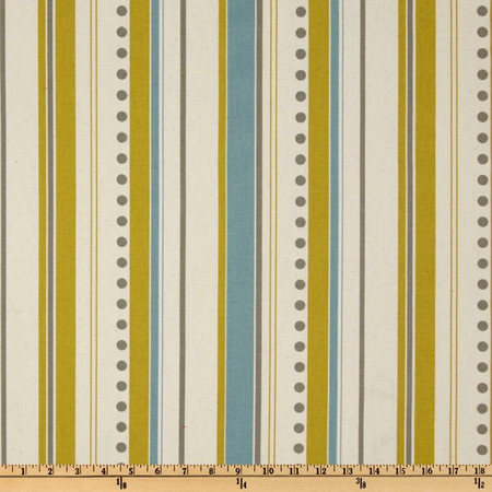 Premier Prints Brook Stripe Summerland Citrine/Natural Fabric By The Yard