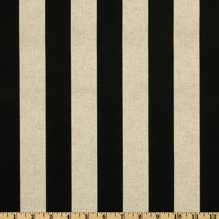 Premier Prints Canopy Black/Oatmeal Fabric