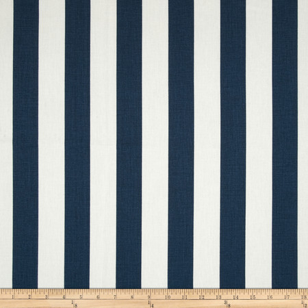 Premier Prints Canopy Stripe Primary Navy Fabric By The Yard