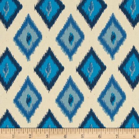 Premier Prints Carnival Arctic Blue/Natural Fabric