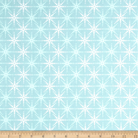 Premier Prints Cass Blue Holiday Fabric