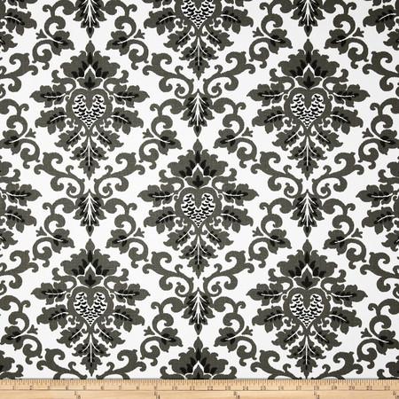 Premier Prints Cecilia Shadow Black Fabric By The Yard