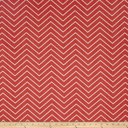 Premier Prints Chevron Twill Coral Fabric By The Yard