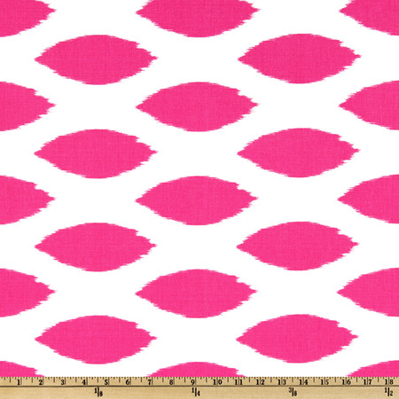 Premier Prints Chipper Candy Pink/White Fabric By The Yard