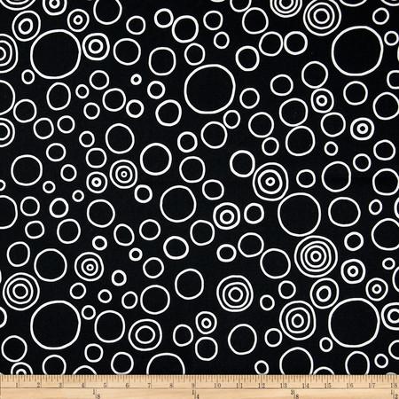Premier Prints Circles Black/White Fabric By The Yard