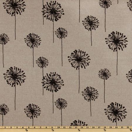 Premier Prints Dandelion Black/Denton Fabric By The Yard