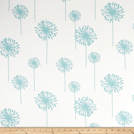 Premier Prints Dandelion Twill White/Canal Fabric By The Yard