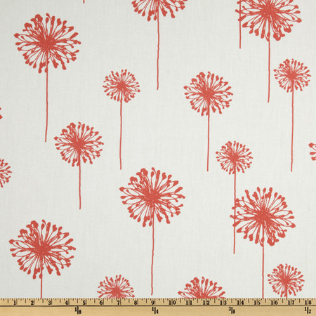 Premier Prints Dandelion White/Coral Fabric By The Yard