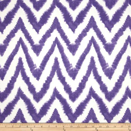 Premier Prints Diva Chevron Slub Thistle Fabric