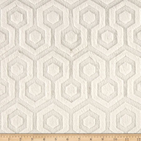 Premier Prints Embossed Geo Cuddle Ivory Fabric By The Yard
