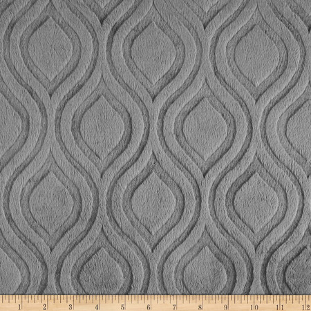 Premier Prints Embossed Marquise Cuddle Charcoal Fabric By The Yard